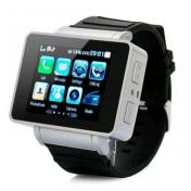 "Watch Cell Phone Mobile 1.8"" Wide Touch Screen Mp3 Mp4 (Black)"